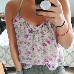 💥BOGO Tobi Sheer Lace Floral Racerback Tank Top